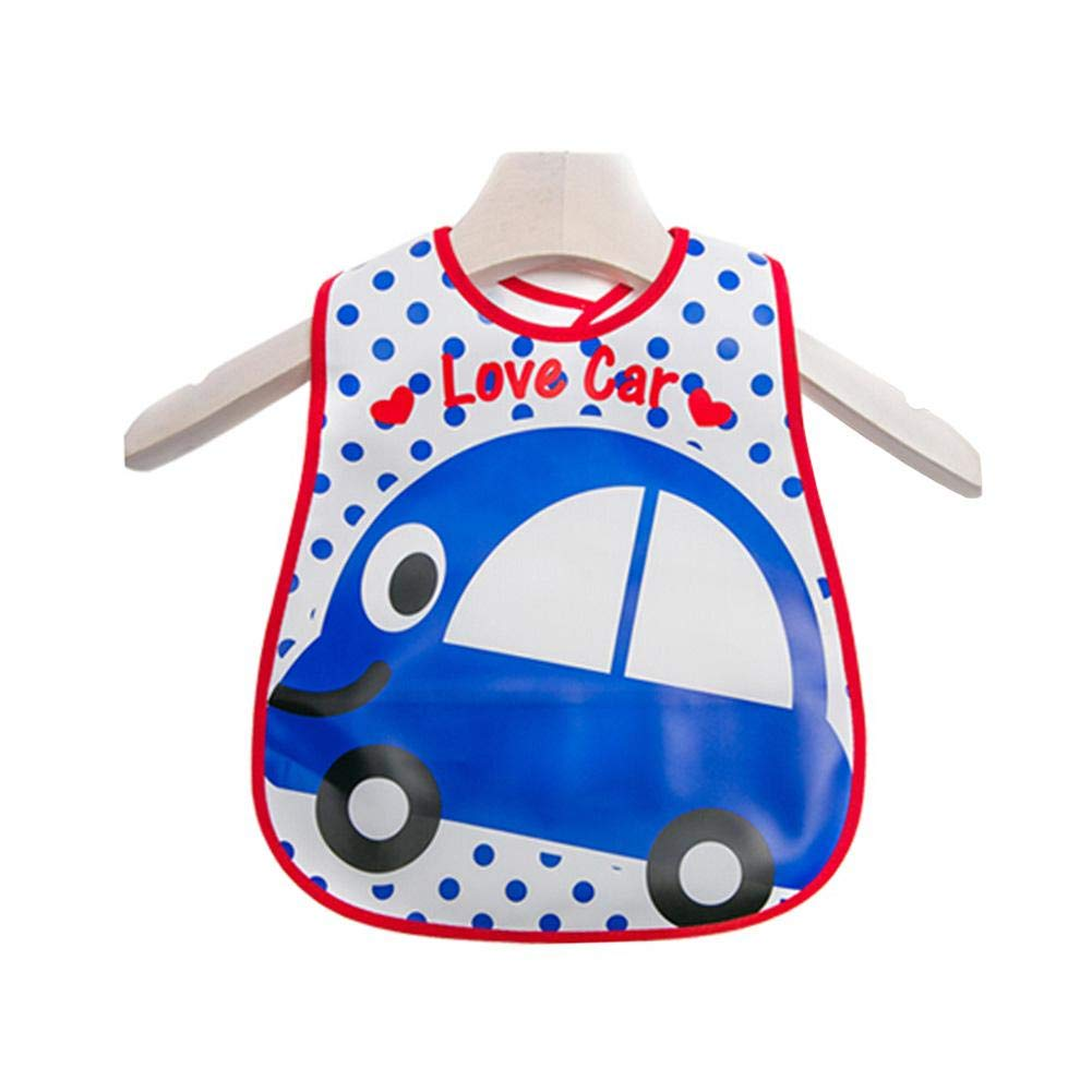 Lovely Cartoon Design Baby Bib Best Home-Travel Bib Soft,Waterproof Love Car - Lovely Cartoon Design Baby Bib Best Home-Travel Bib Soft,Waterproof Love Car