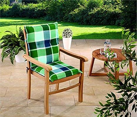 Schwar Textilien - Cojines para sillas de jardín de Respaldo bajo, 3 ...