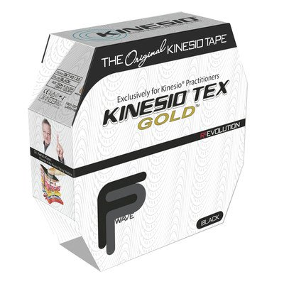 Kinesio Tex Gold FP Kinesiology Tape, 2'' x 34 yds, Black, Bulk Roll by Kinesio