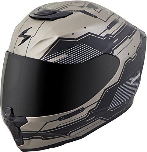 Scorpion EXO-R420 Full-Face Techno Street Bike Motorcycle Helmet - Titanium/X-Large