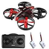 SANROCK Drone for Kids GD65A Mini Quadcopter Nano Hovering Drone for Kids with Altitude Hold Mode, One Key Return, Headless Mode, 3D Flip, 3 Speed Switchable, 2 Batteries, Red
