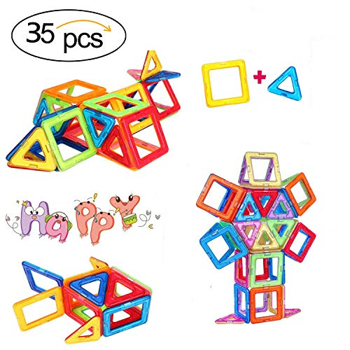 35 PCS Magnetic Blocks, Magnetic Building Set, Magnetic Tiles, Educational STEM Learninig Toys for Baby/Kids