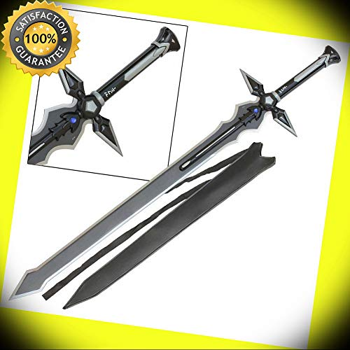 SAO Black Dark Repulser Sword of Kirito Japanese Manga Anime Collectible perfect for cosplay outdoor camping