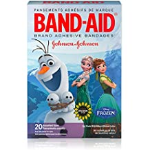 Band-Aid Brand Kids Adhesive Bandages for Minor Cuts & Scrapes, Disney Frozen, Assorted Sizes, 20 ct