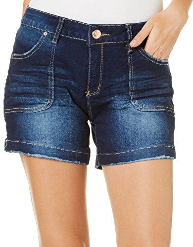 Royalty by YMI Womens Side Split Denim Shorts 10 Dark Wash (Denim Split Shorts)