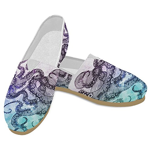 InterestPrint Womens Loafers Classic Casual Canvas Slip On Fashion Shoes Sneakers Flats Multi 20 CdHep