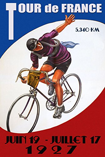 France Vintage Poster - Sport Tour of de France 1927 Bicycle Bike Cycle Race French 20