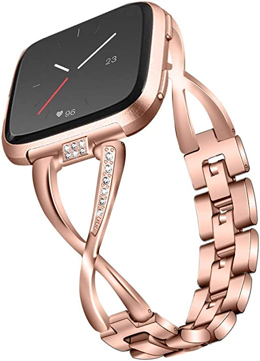 Women Fashio Jewelry Bracelet Stainless Steel Bangle Band Strap For Fitbit versa