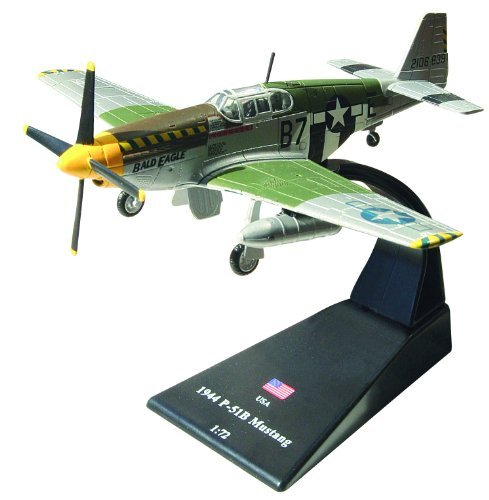 P-51b Mustang Fighter - P-51B Mustang diecast 1:72 model (Amercom SL-22)