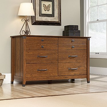 sauder-415520-washington-cherry-finish-carson-forge-dresser-6-drawer