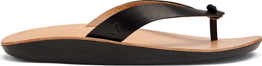 OLUKAI Women's Loea Thong Sandal B010E9PUE2 9 B(M) US|Black/Black