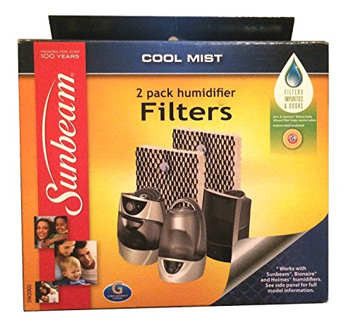 Sunbeam SW2002-UM Cool Mist Humidifier Replacement Wick Filter Type G