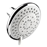 Shower Head YAWALL Showering Replacement 4-Inch Shower Head Fixed Mount four Function, Polished Chrome