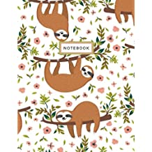Notebook: Sloth White Notebook (Composition Book, Journal) (8.5 x 11 Large)