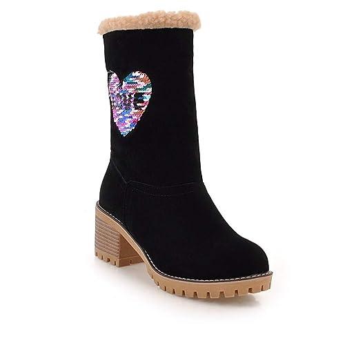 Botas Altas para | Botas Chelsea para | Botas Martin, Botines de tacón Alto, Botas de algodón para Estudiantes de tacón Alto: Amazon.es: Zapatos y ...