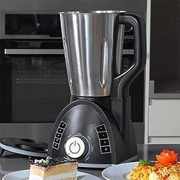Cecomix Robot Compact Que Cocina y tritura, 1100 W, 2.8 litros, Acero Inoxidable|PU, Plata