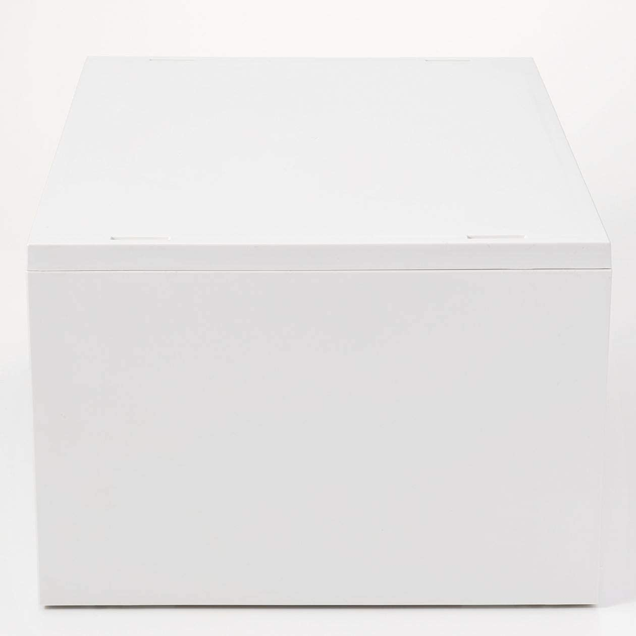 Muji Estuche De Almacenamiento De Polipropileno Extra Ancho, 37 cm Ancho x 26 cm Profundidad x 9 cm Altura, Blanco / Gris: Amazon.es: Hogar