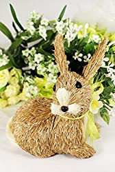 Easter Cute Bunny Rabbit Decoration Sisal Straw Spring