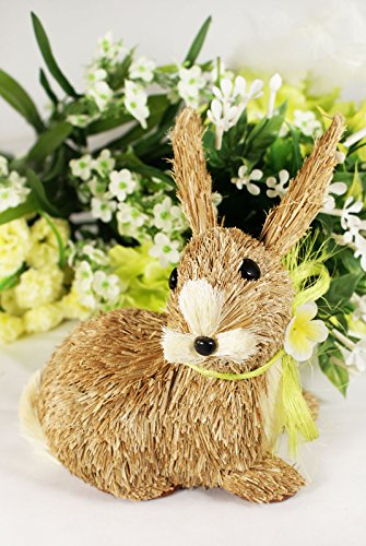 Easter Cute Bunny Rabbit Decoration Sisal Straw Spring (Straw Bunny)