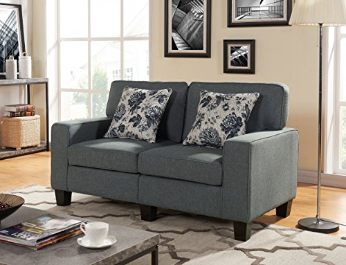US Pride Furniture S5139 Contemporary Style Fabric Armed Loveseat