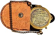 """MAH """" to My Son """" Camping Compass Engraved with Gift Compass. C-3119."""