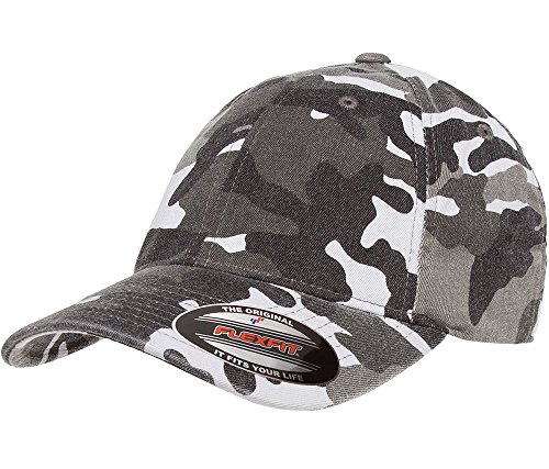1971 Ford Boss 351 Mustang Classic Outline Design Flexfit hat cap large/xlarge greycamo