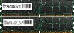 4GB (2X2GB) Nemix Ram Certified DDR2 ECC Memory for Dell Precision Workstation 470 470N 670 670N