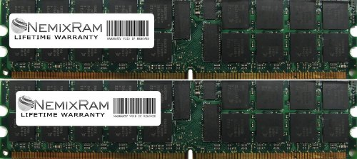 4GB (2X2GB) Nemix Ram Certified DDR2 ECC Memory for Dell PowerEdge 2800 2850 A0751673 - Latency Ddr2 Cas
