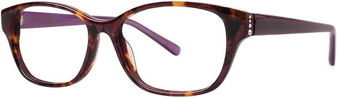 VERA WANG Eyeglasses SHANDAE Red Tortoise 51MM