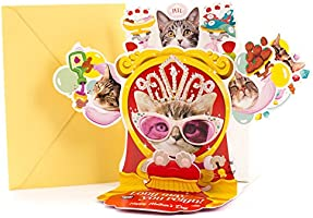 "Hallmark Funny Mother's Day Greeting Card with Song (Cat Queen Pop up, Plays ""Rule Britannia"")"