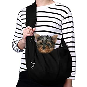 TOMKAS Small Dog Cat Carrier Sling Hands Free Pet Puppy Outdoor Travel Bag Tote Reversible 109