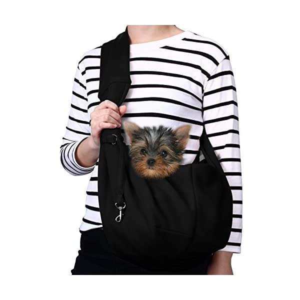 TOMKAS Small Dog Cat Carrier Sling Hands Free Pet Puppy Outdoor Travel Bag Tote Reversible 1