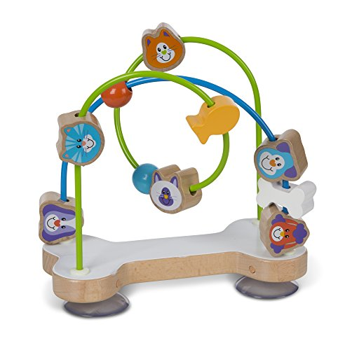 - Melissa & Doug First Play Pets Bead Maze Baby Toy, Multi