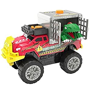 Toy State Road Rippers Dino Hauler Velociraptor Motorized with Lights and Sound