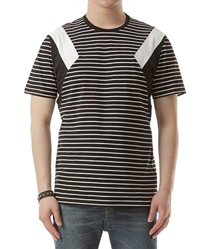 wiberlux-neil-barrett-mens-paneled-stripe-print-t-shirt-l-black