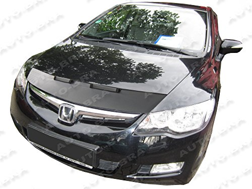 HOOD BRA Front End Nose Mask for Honda Civic North America, Asia, Hybrid, Acura CSX 2005-2011 Bonnet Bra STONEGUARD PROTECTOR TUNING ()