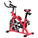 Goplus Adjustable Exercise Bike Cycle Trainer Stationary Cardio Fitness Bicycle w/ LCD 18 lb Flywheel For Sale