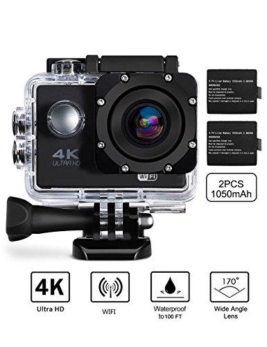 Ultra 4K Action Camera (Silver) Set Of 2 - 8