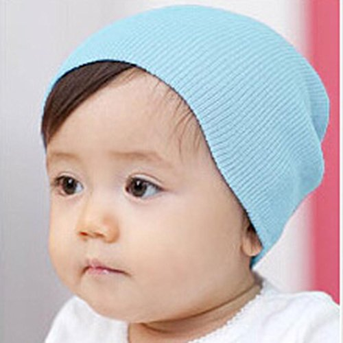 Price comparison product image Mchoice Baby Beanie Boy Girls Soft Hat Children Winter Warm Kids Cap (Light Blue)