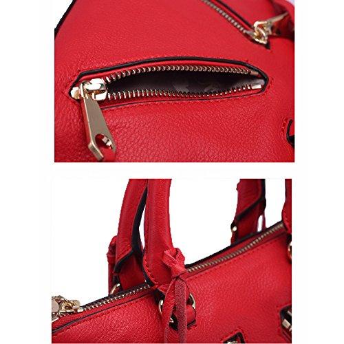 silverchain Bolsos Capa bag Americana Nuevos Zm Y De Escalada Moda Simples Black Primera Salvajes Europea Las La Cuero Señoras 2018 qSHtwxatR