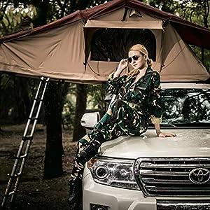 Yx-outdoor Tenda da Tetto Addensato Lungo Impermeabile Campeggio Esterno Camera Mobile Doppio Auto-Guida Campo prevenzione Bestia 3 spesavip