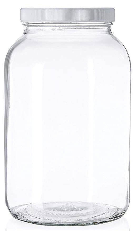Amazoncom 1 Gallon Glass Jar Wide Mouth With Airtight Foam Lined