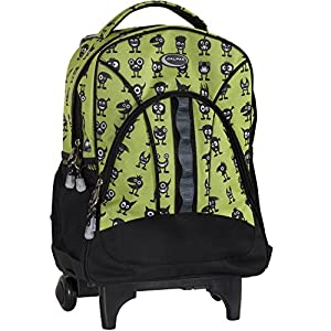 CALPAK Grand Stand Green Monster Unisex 17-inch Lightweight Rolling Sport Backpack