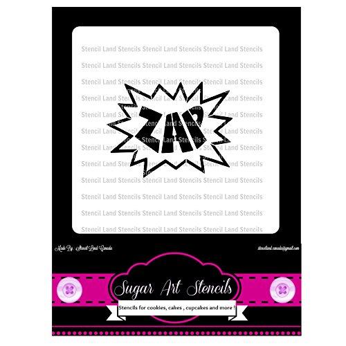 Zap comic book style Cookie stencil - cupcake designs for...
