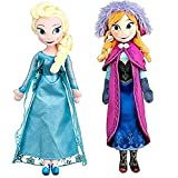 "Disney Frozen Princess Elsa & Anna Doll Set Featuring 20"" Plush Dolls (2-Pack)"