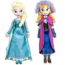 "Disney Frozen Princess Elsa & Anna Doll Set Featuring 20"" Plush Dolls (2-Pack)"