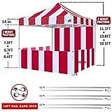 Eurmax 10'x10' Ez Pop-up Canopy Tent Commercial Instant Tent with 4 Removable Zipper End Side Walls and Roller Bag, Bonus 4 SandBags