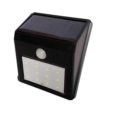 LEDMOMO 12 LED Lámparas Solares Luz de Sensor de Movimiento de Seguridad Iluminación de Pared para