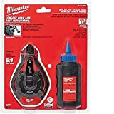 Tools & Hardware : Milwaukee 48-22-3982 100 Ft. Bold Line Chalk Reel w/ Strip Guard Gearbox and 6:1 Gear Retraction Ratio (3 Oz. of Blue Chalk Included)