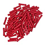 CNBTR Red 22-16AWG Insulated Butt Connectors Straight Crimp Terminals Splices Pack of 100